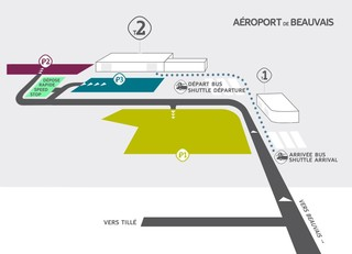 Mapa do terminal e aeroporto Paris Beauvais (BVA)